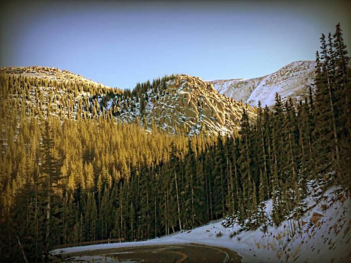 Pikes Peak snowy road