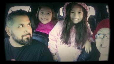 Trip selfie family shot