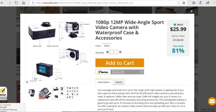 Jclub camera on site